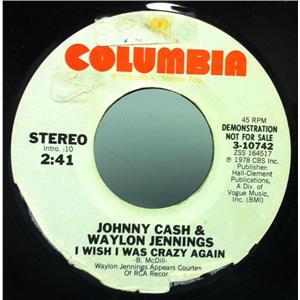 Johnny Cash Amp Waylon Jennings I Wish I Was Crazy Again 7