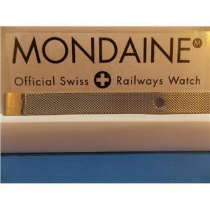 Mondaine Swiss Railways Watch Band 14mm Bracelet One Piece Steel Mesh Watchband