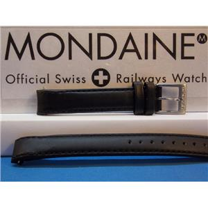 Mondaine Swiss Railways Watch Band 14mm Extra Long Curved end Leather Strap