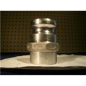 "Tough-Tite 2""NPT. Aluminum Cam Lock Male Adapter, coupling"