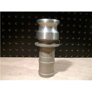 """P-T 15-E 1 1/2"""" Cam Lock Male Coupling, Stainless Steel"""