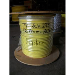 "1/2"" Arborist Steel Cored Flip Line 2 Ropes one Spool 250 ft and 300 ft"