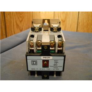SQUARE D CLASS 8501 TYPE X RELAY SERIES A 9835