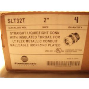 "Steel Electric 2"" Straight Liquidtight Connector W Insulated Throat SLT32T"