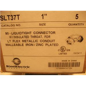 Steel Electric 90* Liquidtight Connector W/ Insulated Throat SLT37T