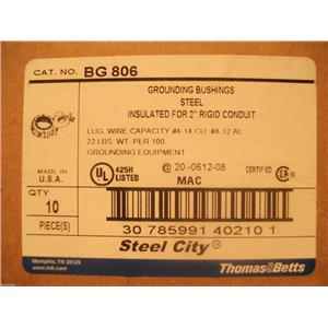 "Thomas & Betts Grounding Bushings Steel Insulated For 2"" Rigid Conduit BG806"
