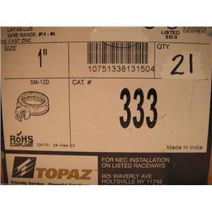 "Topaz 1"" Conduit Bushing W/Lug. 333, (21 PER)"