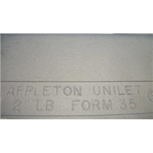 "Appleton 2""LB UNILET FM35 Conduit Body"