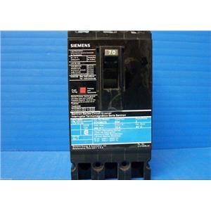 Siemens Sentron Series Circuit Breaker Cat.No. ED43B070  480 Volts 70 Amps