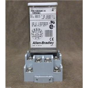 Allen Bradley Relay & Base / Cat.No. 700-HA33A1-4