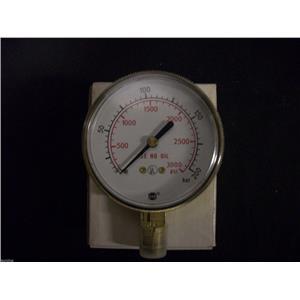 1 NEW USG 0-3000 PSI 0-200 BAR GAUGE 63S-600