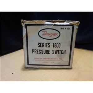 NEW DWYER 1800 SERIES PRESSURE SWITCH 1823-0 10 PSI 480 VAC (CC5)
