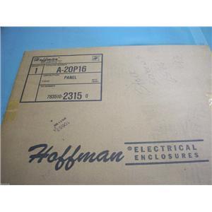 HOFFMAN 12 GAUGE WHITE ENAMEL PANEL  A-20P16