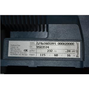 PROMINENT FLUID CONTROLS LTD. G/4A 1601 PP1 000D20000 METERING PUMP 115V