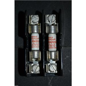 GOULD SHAWMUT 30320 FUSE HOLDER WITH 2 ATM-10 FUSES