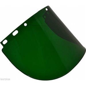 (Box of 11) Fibre-Metal Faceshield Windows Cat. No. 4178 Dark Green Shade 0.5