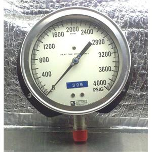 WEKSLER GAUGE 0-4000 PSI  G1585 ROYAL ST.ST. TUBE-STEEL SOCKET