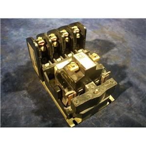 SQUARE D 8501-H040 RELAY, W/ 120 VOLT COIL