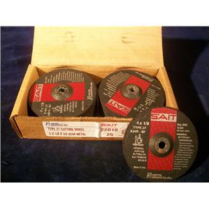 SAIT 22010, TYPE 27 CUTTING WHEELS LOT OF (25)