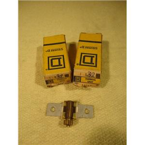 Square D 1-B.32 Overload Relay Thermal Unit, Lot of 2