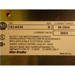 Allen-Bradley 193-NX40 Motor Overcurrent Protector, 300 Amp