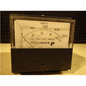 Reliance Electric 9C26D 0-2,000 RPM Panel Meter
