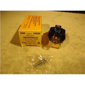 Hubbell HBL2420A Twist Lock Receptacle, *NIB*