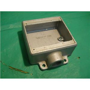 "CROUSE HINDS FS22, 3/4"" TWO GANG OUTLET BOX, FOR HAZARDOUS LOCATIONS"