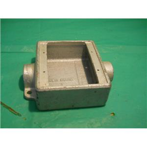"""CROUSE HINDS FSC222, 3/4"""" TWO GANG OUTLET BOX 28.3 CU. IN."""