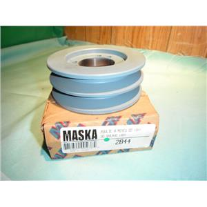 MASKA 2B44, DOUBLE BELT PULLEY FOR USE WITH QD (SH) BUSHING