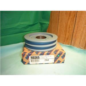 MASKA 2B60, DOUBLE BELT SHEAVE PULLEY USE WITH QD (SDS) BUSHING