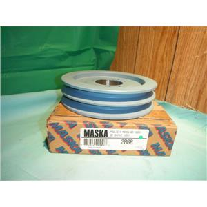 MASKA 2B68, DOUBLE BELT SHEAVE PULLEY USE WITH QD (SDS) BUSHING