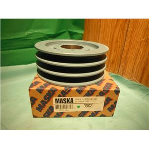 MASKA 3B62, 2TRIPLE BELT SHEAVE PULLEY USE WITH QD SHEAVE (SD) BUSHING