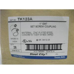 "Thomas & Betts 1"" EMT Set Screw Coupling / Cat. No.  TK123A"
