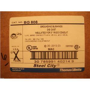 "Thomas & Betts BG808 - Grounding Bushings Steel Insulated For 3"" Rigid Conduit"