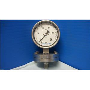 """Sanitary Pressure Gauge 0-25  """" bar buchiglasuster """""""