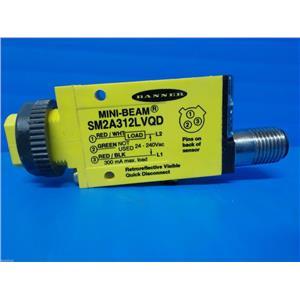Banner AC  Mini-Beam Photoelectric Sensor Model No. SM2A312LVQD / Part No. 26845
