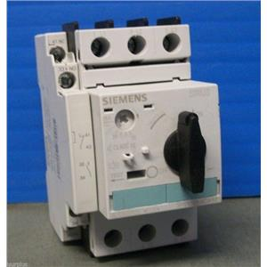 Siemens Motor Starter Protector 3RV1021-4DA10 w/ Lateral Aux. Switch 3RV1901-1A