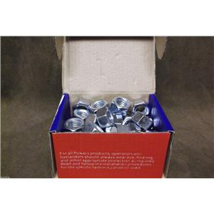 "Power Fasteners Zinc Finished Hex Nuts 1/2""-13 Cat.# 016005 / Box of 25"