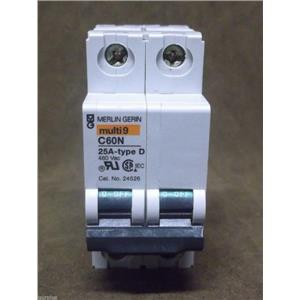 Merlin Gerin/Schneider Miniature Circuit Breaker Cat.No. 24526 25 Amp Type D