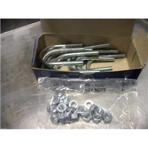 "Chicago Hardware #013 U-Bolts W/O Plates for 1-1/4"" pipes. 5/16""x1-3/4""x2-11/16"""