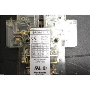 ALLEN-BRADLEY 195-GA11 SER A - CONTACTOR NEMA/EEMAC A600,P300