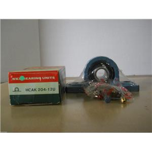 "NKB HCAK 204-12U, 3/4"", PILLOW BLOCK BEARING W/ LOCKING COLLAR"