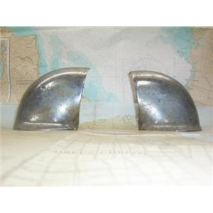 Boaters' Resale Shop of TX 1305 3101.01 PAIR OF VINTAGE CHROME PLATED SIDE COWLS