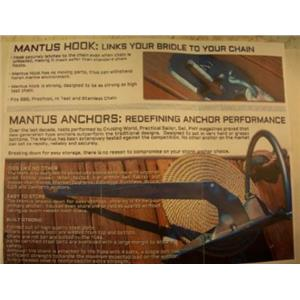 Boaters Resale Shop of Tx 400.01 Mantus 8 LB. GALVANIZED STEEL ANCHOR