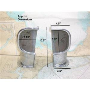 Boaters Resale Shop of Tx 1305 0521.04 SET OF CHROME PLATED SIDE MOUNT COWL VENT