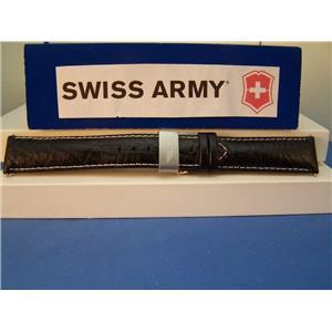 Swiss Army Watch Band FA-18 Swiss Air Force 20mm black Leathr W/Folding Buckle