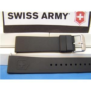 Swiss Army Watch Band Maverick ll (2) Man's black Rubber 22mm Strap Sports Band
