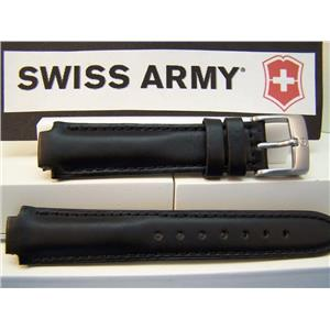 Swiss Army Watch Band Excursion Ladies Leather Black w/Pins