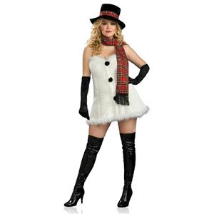 Frostbitten Frostbite Plus Size Sexy Adult Snowman Christmas Costume